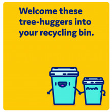 Welcome these tree-huggers into your recycling bin.