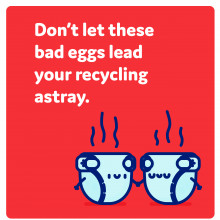 Don't let these bad eggs lead your recycling astray.