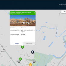 Desktop View - Residential address search within a 3km radius