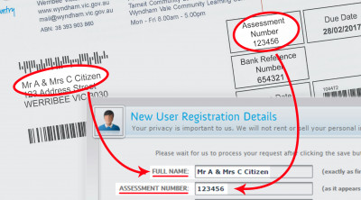 Digital Rates Notice Registration - Register Screen