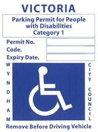 Disability Parking Permits | Wyndham City