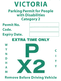 Disability Parking Permit - Green