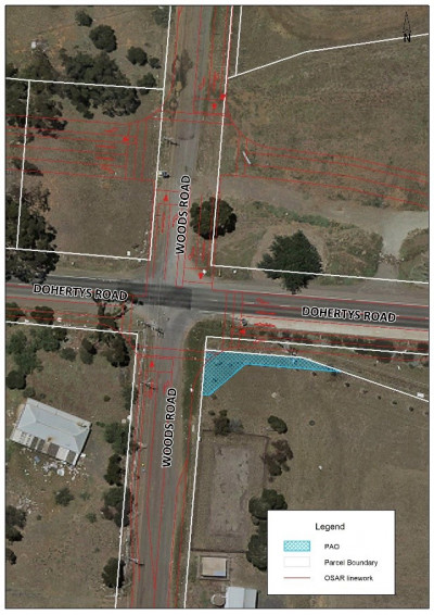 C241 - Plan 1: Woods Road and Dohertys Road Intersection Upgrade