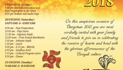 Bengali Society of Melbourne is celebrating Durgotsa